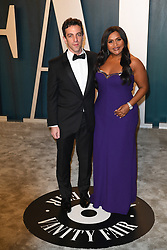B.J. Novak and Mindy Kaling attending the Vanity Fair Oscar party at Wallis Annenberg Center for the Performing Arts on February 09, 2020 in Beverly Hills, Los Angeles, CA, USA, February 9, 2020. Photo by David Niviere/ABACAPRESS.COM