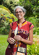 Victoria Slinger owner of The Tower Garden, St. Paul's, Grenada, the Caribbean, West Indies
