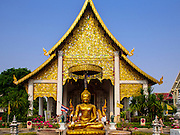 06 APRIL 2015 - CHIANG MAI, CHIANG MAI, THAILAND:  The front of Wat Chedi Luang, one of the best known Buddhist temples in Chiang Mai. The temple was built in the 14th century CE.    PHOTO BY JACK KURTZ