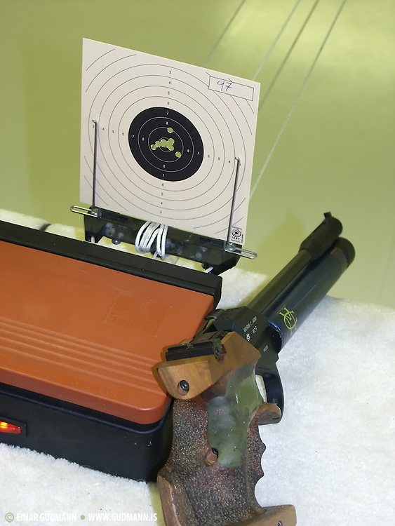 Air pistol competition.