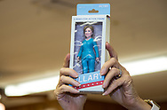 """A Hillary Clinton action figure doll auctioned off at the """"Ear of Steve"""" fundraising  event in Abita Springs Louisana on June 11."""