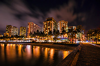 Waikiki Beach @ Night