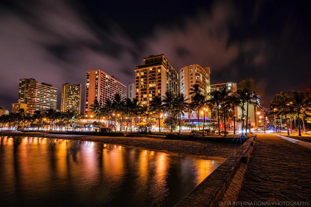 Waikiki Beach @ Night