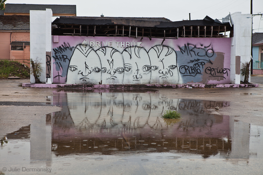 Graffiti on a blighted building in New Orleans.