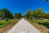park garden  of Shusha landmark of Artsakh Nagorno-Karabakh Armenia eastern Europe