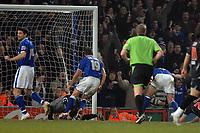 Photo: Ashley Pickering/Sportsbeat Images.<br /> Ipswich Town v West Bromwich Albion. Coca Cola Championship. 01/01/2008.<br /> Jason De Vos (blue R) beats West Brom goalie Dean Kiely to score the second for Ipswich