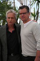 Actors Michael Douglas and Matt Damon at the 'Behind The Candelabra' film photocall at the Cannes Film Festival  Tuesday 21 May 2013