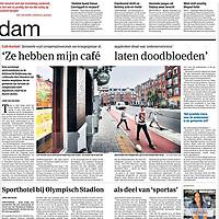 Parool 23 augustus 2013: Café Kontakt moet sluiten