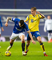 Football - 2020 / 2021 Scottish Premier League - Glasgow Rangers vs St Johnstone - Ibrox stadium<br /> <br /> Ryan Jack of Rangers vies with Ali McCann of St Johnstone<br /> <br /> COLORSPORT/BRUCE WHITE
