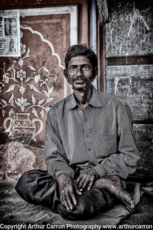 A street trader in Jaipur, India. Picture:Arthur Carron