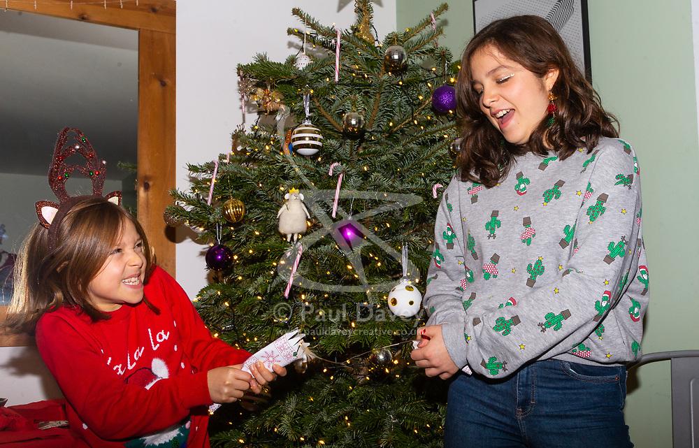 Sisters Sofia, 9, and Florencia, 12. Brighton, December 16 2018.