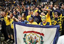 Jan 6, 2018; Morgantown, WV, USA; West Virginia Mountaineers students celebrate after beating the Oklahoma Sooners at WVU Coliseum. Mandatory Credit: Ben Queen-USA TODAY Sports