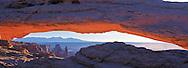 Canyonlands National Park,Utah, Mesa Arch, panoramic