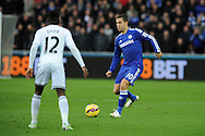 Eden Hazard of Chelsea in action. Barclays Premier League match, Swansea city v Chelsea at the Liberty Stadium in Swansea, South Wales on Saturday 17th Jan 2015.<br /> pic by Andrew Orchard, Andrew Orchard sports photography.
