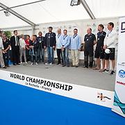 podium des championnat du monde de dragon 2015