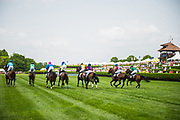 April 29, 2017, 22nd annual Queen's Cup Steeplechase. Start of the $25,000 CHARLOTTE BUSINESS JOURNAL Handicap Hurdle