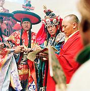 High Priests at the Festival to the Sun ceremony, Lama Yuru, Ladakh, India