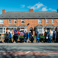 March 2019 March for Brexit in the North East of England through Billingham and Middlesborough organised by Nigel Farage's Brexit Party