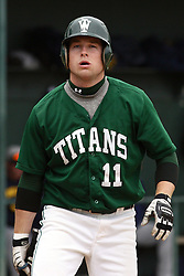 28 April 2012:  Mark McDermott during an NCAA division 3 Baseball game between the Augustana Vikings and the Illinois Wesleyan Titans in Jack Horenberger Stadium, Bloomington IL