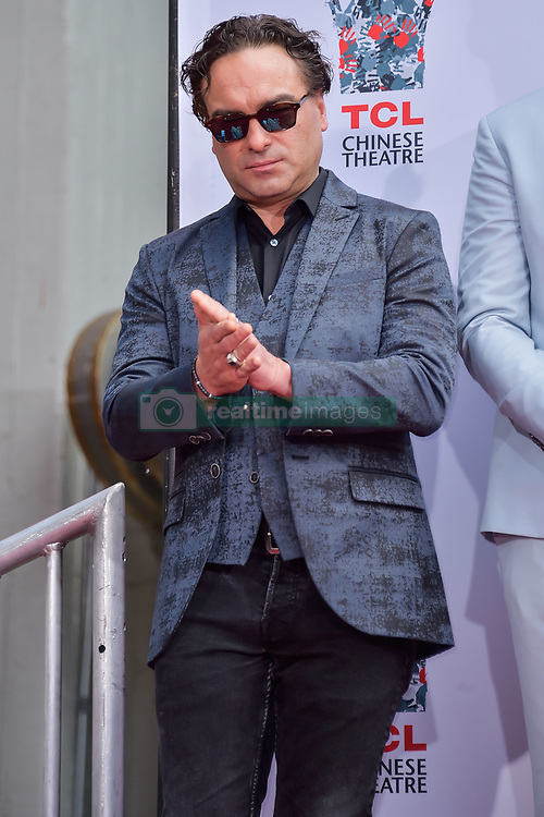 HOLLYWOOD, LOS ANGELES, CALIFORNIA, USA - MAY 01: The Cast Of 'The Big Bang Theory' Place Their Handprints In The Cement At The TCL Chinese Theatre IMAX Forecourt held at the TCL Chinese Theatre IMAX on May 1, 2019 in Hollywood, Los Angeles, California, United States. 01 May 2019 Pictured: Johnny Galecki. Photo credit: Image Press Agency / MEGA TheMegaAgency.com +1 888 505 6342