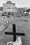 Cemetery in San Juan Chamula, Chiapas, Mexico. March / 2006.<br /> <br /> (Original photograph on 35mm film, copied to paper and scanned to digital)