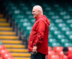 Head Coach Warren Gatland of Wales during the captains run<br /> <br /> Photographer Simon King/Replay Images<br /> <br /> Six Nations Round 3 - Captains Run - Wales v England - Saturday 22nd February 2019 - Principality Stadium - Cardiff<br /> <br /> World Copyright © Replay Images . All rights reserved. info@replayimages.co.uk - http://replayimages.co.uk