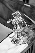 Oxford, GREAT BRITAIN., Royal visit to Magdalen College, Custom Hood Ornaments, 2002 Bentley State Limousine custom hood ornament of St. George slaying the dragon, Royal Limousine,  Thursday 27/11/2008, [Mandatory Credit Peter Spurrier]