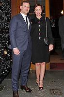 Dermot O'Leary & Dee Koppang, UN x WIE Awards Gala Dinner, Goldsmiths Hall, London UK, 27 April 2015, Photo By Brett D. Cove