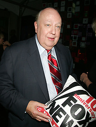May 18, 2017 - File Photo - ROGER AILES, the communications maestro who transformed television news and America's political conversation by creating and ruling Fox News Channel for two decades before being ousted last year for alleged sexual harassment, died Thursday, He was 77. According to a family friend, Ailes fell at his home in Palm Beach, Florida last week; suffered complications; and slipped into a coma. Pictured: Oct 04, 2006; New York: Roger Ailes at the Fox News Channel 10th Year Anniversary Party held at the News Corporation Building. (Credit Image: © Nancy Kaszerman/ZUMA Wire/ZUMAPRESS.com)