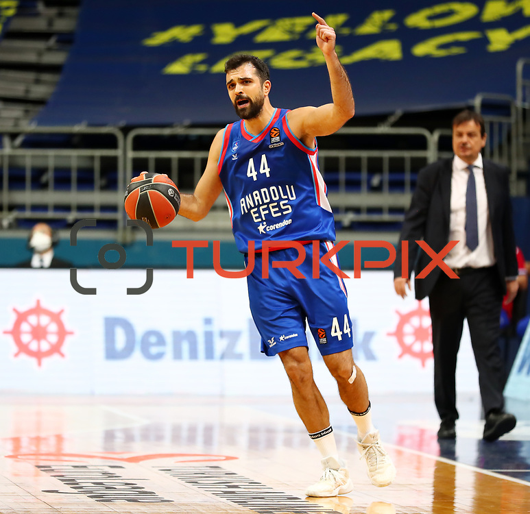 Fenerbahce Beko's and Anadolu Efes's during their Turkish Airlines Euroleague Basketball 2020-2021 Regular Season Round 26 match Fenerbahce Beko between Anadolu Efes at the Ulker Sports and Event Hall on February 26, 2021, in Istanbul, Turkey. Photo by Aykut AKICI/TURKPIX