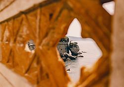 THEMENBILD - das Schloss Miramare (italienisch Castello di Miramare) liegt auf einer Felsenklippe der Bucht von Grignano an der Adria etwa fünf Kilometer nordwestlich der italienischen Hafenstadt Triest, aufgenommen am 12. August 2019 in Triest, Italien // Miramare Castle (Italian: Castello di Miramare) is situated on a rocky cliff in the bay of Grignano on the Adriatic Sea about five kilometres northwest of the Italian port of Trieste. in Trieste, Italy on 2019/08/12. EXPA Pictures © 2019, PhotoCredit: EXPA/Stefanie Oberhauser