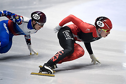 February 8, 2019 - Torino, Italia - Foto LaPresse/Nicolò Campo .8/02/2019 Torino (Italia) .Sport.ISU World Cup Short Track Torino - 500 meter Men Preliminaries.Nella foto: Charle Cournoyer (destra), Daniil Eybog..Photo LaPresse/Nicolò Campo .February 8, 2019 Turin (Italy) .Sport.ISU World Cup Short Track Turin - 500 meter Men Preliminaries.In the picture: Charle Cournoyer (R), Daniil Eybog (Credit Image: © Nicolò Campo/Lapresse via ZUMA Press)