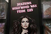 Brazilian Hollywood Waxing salon in London, England, United Kingdom.