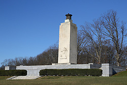 11.01.2016, Museum, Gettysburg, USA, Battle of Gettysburg, im Bild Eternal Light Peace Memorial, Schlachtfeld von Gettysburg // View the historic site of the Battle of Gettysburg at Museum in Gettysburg, United States on 2016/01/11. EXPA Pictures © 2016, PhotoCredit: EXPA/ Eibner-Pressefoto/ Hundt<br /> <br /> *****ATTENTION - OUT of GER*****