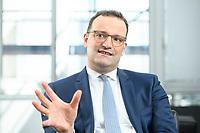 05 MAY 2021, BERLIN/GERMANY:<br /> Jens Spahn, CDU, Bundesgesundheitsminister, wahrend einem Interview, in seinem Buero, Bundesministerium fur Gesundheit<br /> IMAGE: 202105005-01-021