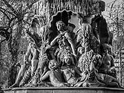 Figurer ur den nordiska mytologin på Molins fontän i Stockholm