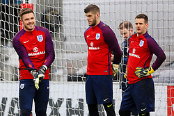 England goalkeepers Jack Butland, Frazer Forster and Tom Heaton - Mandatory byline: Matt McNulty/JMP - 22/03/2016 - FOOTBALL - St George's Park - Burton Upon Trent, England - Germany v England - International Friendly - England Training and Press Conference