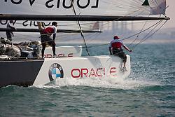 Artemis Racing (SWE) versus BMW Oracle Racing (USA), RR1. BMW Oracle Racing wins both matches. Dubai, United Arab Emirates, November 15th 2010. Louis Vuitton Trophy  Dubai (12 - 27 November 2010) © Sander van der Borch / Artemis Racing