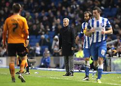 Wolverhampton Wanderers Manager, Kenny Jackett looks on during the match - Mandatory byline: Paul Terry/JMP - 07966 386802 - 01/01/2016 - FOOTBALL - Falmer Stadium - Brighton, England - Brighton v Wolves - Sky Bet Championship