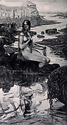 La Miroir des eaux [The mirror of the waters] by Glehn (M. G.) from Le Nu au Salon 1895 A collection of Nude photography published in Paris in 1908 by Societe nationale des beaux-arts (France). et Societe des artistes francais. Catalogues of nudes exhibited at the official Paris Salons. Risqué photography is material that is slightly indecent or liable to shock, especially as sexually suggestive.
