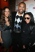 """l to r: Valiesha Butterfield, Londell McMillan and Lil' Kim at The Russell Simmons and Spike Lee  co-hosted""""I AM C.H.A.N.G.E!"""" Get out the Vote Party presented by The Source Magazine and The HipHop Summit Action Network held at Home on October 30, 2008 in New York City"""