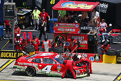 May 26, 2018 - Concord, North Carolina, United States of America - Ross Chastain (4) brings his car down pit road for service during the Alsco 300 at Charlotte Motor Speedway in Concord, North Carolina. (Credit Image: © Chris Owens Asp Inc/ASP via ZUMA Wire)