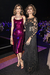 Nieves Alvarez attends the fashion show during Bvgalri Gala Dinner held at the Stadio dei Marmi in Rome, Italy on June 28, 2018. Photo by Marco Piovanotto/ABACAPRESS.COM