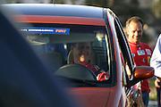 Betim_MG, Brasil...Michael Schumacher, dentro de um carro, em passagem pelo Brasil...Michael Schumacher, inside a car, passing through in Brazil...Foto: LEO DRUMOND / NITRO