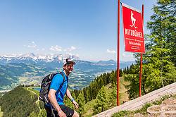 05.06.2019, Streif, Kitzbühel, AUT, FIS Weltcup Ski Alpin, im Bild Hannes Reichelt // Hannes Reichelt during a media Event of the Austrian Ski Association (ÖSV) at the Streif in Kitzbühel, Austria on 2019/06/05. EXPA Pictures © 2019, PhotoCredit: EXPA/ Stefan Adelsberger