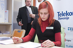 Nina Kolaric when Slovenian athletes and their coaches sign contracts with Athletic federation of Slovenia for year 2009,  in Ljubljana, Slovenia, on March 2, 2009. (Photo by Vid Ponikvar / Sportida)