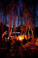 Camping on Grassy Island. Jackson Lake in Grand Teton National Park, WY.