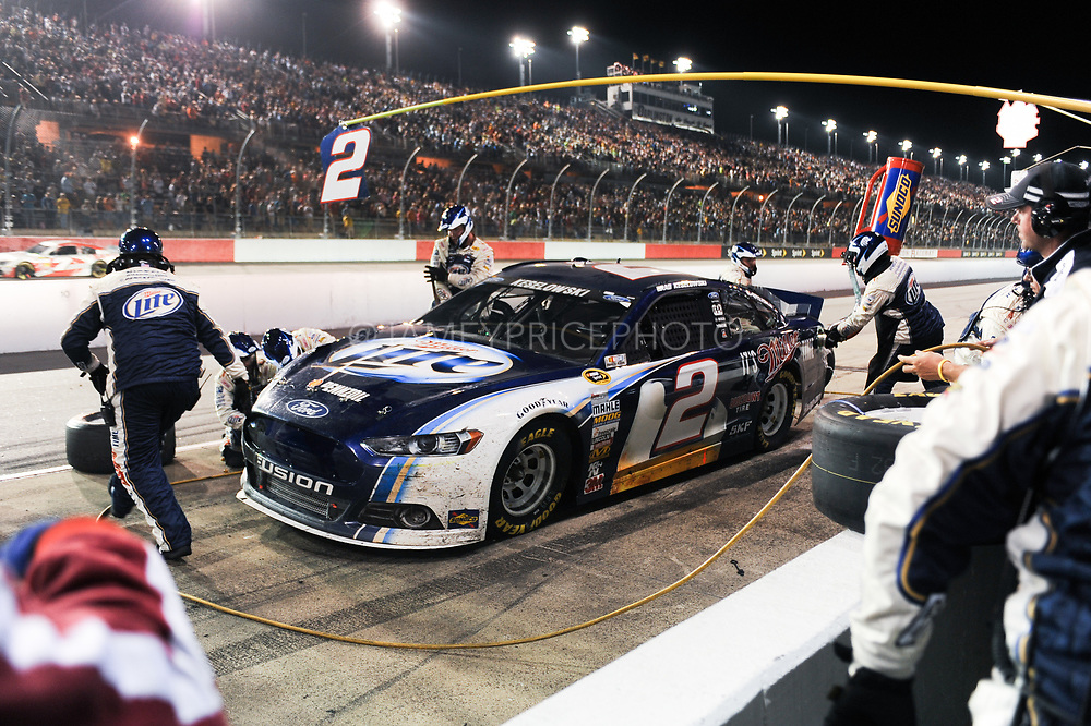 May 10, 2013: NASCAR Southern 500. Brad Keselowski, Ford , pitstop , Jamey Price / Getty Images 2013 (NOT AVAILABLE FOR EDITORIAL OR COMMERCIAL USE