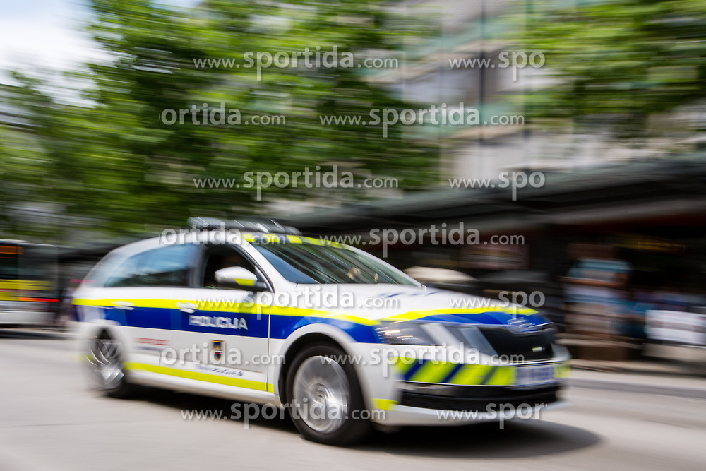 Police car during 1st Stage of 26th Tour of Slovenia 2019 cycling race between Ljubljana and Rogaska Slatina (171 km), on June 19, 2019 in  Slovenia. Photo by Matic Klansek Velej / Sportida