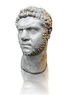 Roman sculpture bust of Marcus Aurelius Severus Antoninus Augustus better known as Caracalla, made between 210 and 213 AD and excavated from the via Cassia, Rome. The realism of this  sculpture of Caracalla captures cruelty of the most notorious and unpleasant of emperors because of the massacres and persecutions he authorized and instigated throughout the Roman Empire. The eldest son of Septimius Severus, he reigned jointly with his father from 198 until Severus' death in 211. For a short time he then ruled jointly with his younger brother Geta until he had him murdered later in 211. Caracalla's reign was also notable for the Constitutio Antoniniana  granting Roman citizenship to all freemen throughout the Roman Empire. While travelling from Edessa to continue the war with Parthia, he was assassinated while urinating at a roadside near Carrhae on 8 April 217, by Julius Martialis, an officer of his personal bodyguard who was possibly resentful at not being promoted to the rank of centurion.  The National Roman Museum, Rome, Italy